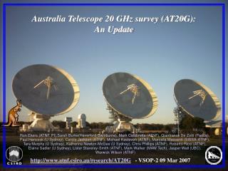 Australia Telescope 20 GHz survey (AT20G): An Update