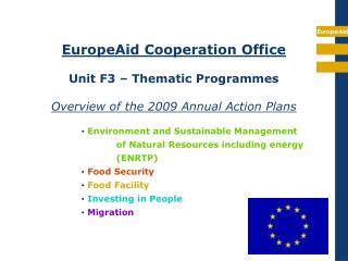 Environment and Sustainable Management of Natural Resources including energy (ENRTP)
