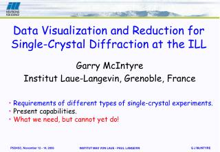 Data Visualization and Reduction for Single-Crystal Diffraction at the ILL