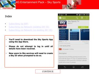 4G Entertainment Pack � Sky Sports