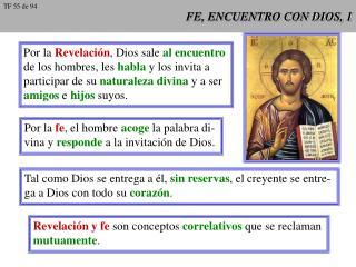 FE, ENCUENTRO CON DIOS, 1