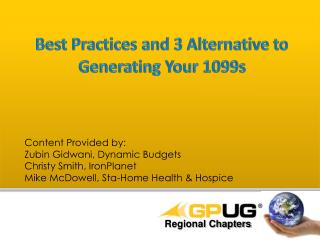 Best Practices and 3 Alternative to  Generating Your 1099s