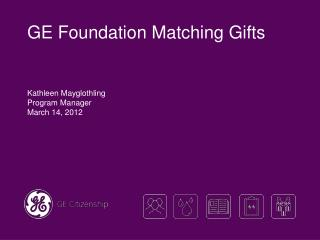 GE Foundation Matching Gifts