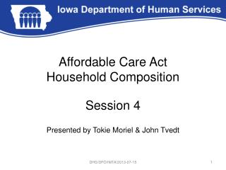 Affordable Care Act Household Composition
