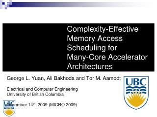 Complexity-Effective Memory Access Scheduling for  Many-Core Accelerator Architectures