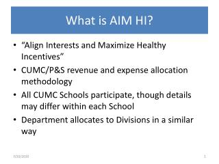 What is AIM HI?