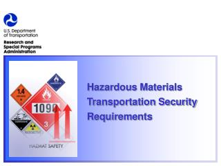 Hazardous Materials Transportation Security Requirements