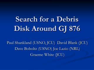 Search for a Debris Disk Around GJ 876