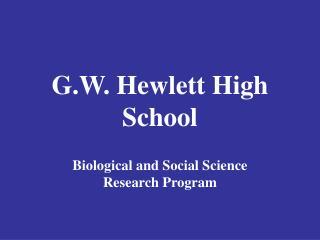 G.W. Hewlett High School