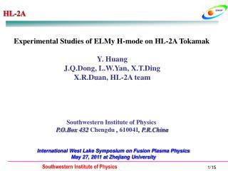 Experimental Studies of ELMy H-mode on HL-2A Tokamak