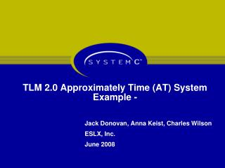 TLM 2.0 Approximately Time (AT) System Example -