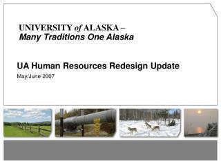 UA Human Resources Redesign Update