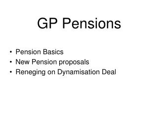 GP Pensions