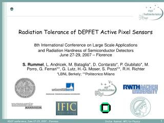 Radiation Tolerance of DEPFET Active Pixel Sensors