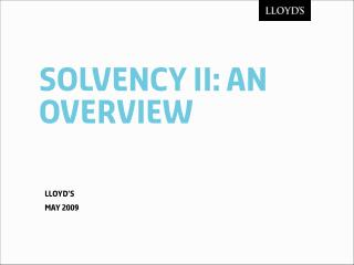 Solvency ii: an overview