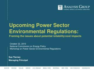 October 22, 2010 National Commission on Energy Policy