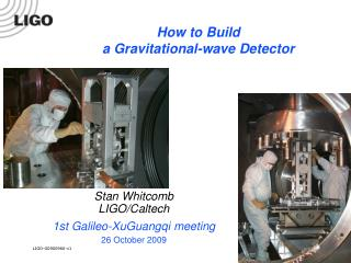 How to Build  a Gravitational-wave Detector