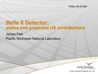 Belle II Detector: status and proposed US contributions