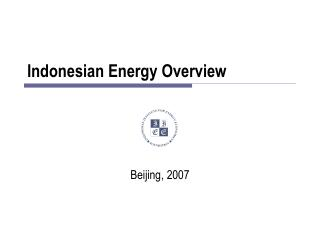 Indonesian Energy Overview