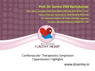 Prof. Dr. Sarma VSN Rachakonda