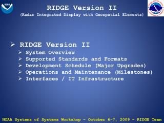 RIDGE  Version II (Radar Integrated Display with Geospatial Elements)