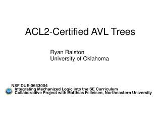 ACL2-Certified AVL Trees
