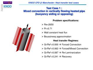 Test Case 1 : Mixed convection in vertically flowing heated pipe (buoyancy aiding or opposing)