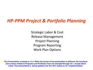 HP-PPM Project & Portfolio Planning