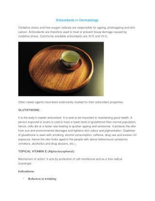 Antioxidants in Dermatology