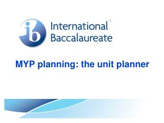 MYP planning: the unit planner
