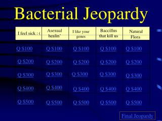 Bacterial Jeopardy