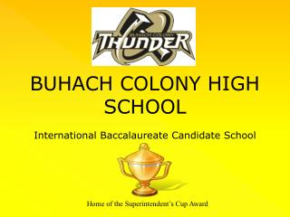 BUHACH COLONY HIGH SCHOOL International Baccalaureate Candidate School