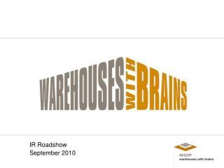 IR Roadshow    September 2010