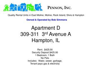 Apartment D 309-311  3 rd  Avenue A Hampton, IL