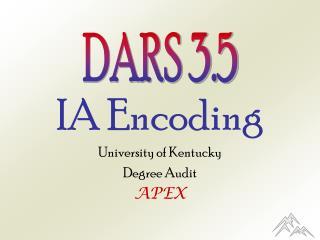 IA Encoding