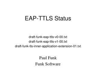 EAP-TTLS Status