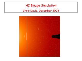HI Image Simulation  Chris Davis, December 2003
