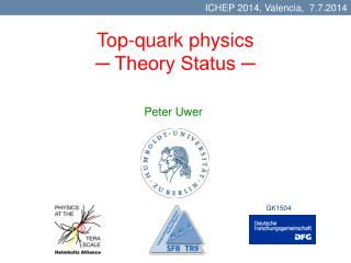 Top-quark physics ─ Theory Status ─