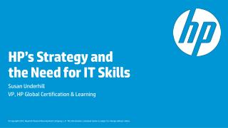 HP's Strategy and  the Need for IT Skills