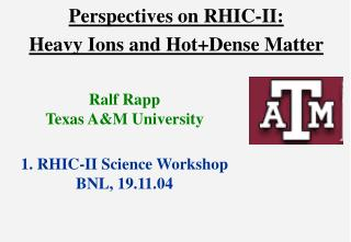 Perspectives on RHIC-II: Heavy Ions and Hot+Dense Matter