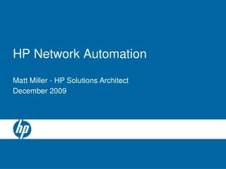 HP Network Automation