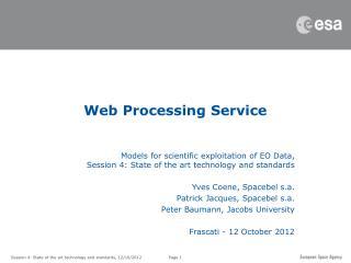 Web Processing Service