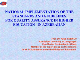 1. Higher education system in Azerbaijan