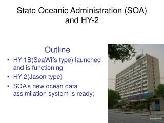 State Oceanic Administration (SOA) and HY-2