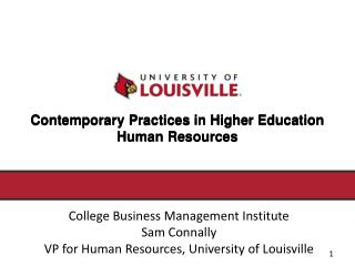 Contemporary Practices in Higher Education  Human Resources