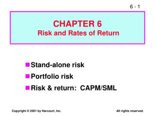 CHAPTER 6  Risk and Rates of Return