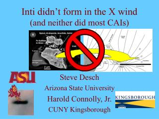 Inti didn�t form in the X wind (and neither did most CAIs)
