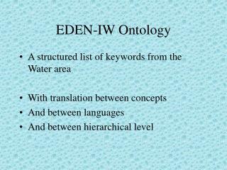 EDEN-IW Ontology