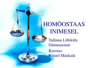 HOMÖOSTAAS INIMESEL