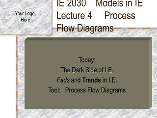 IE 2030    Models in IE    Lecture 4     Process Flow Diagrams